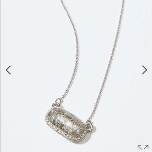 Loft pave stone pendant necklace